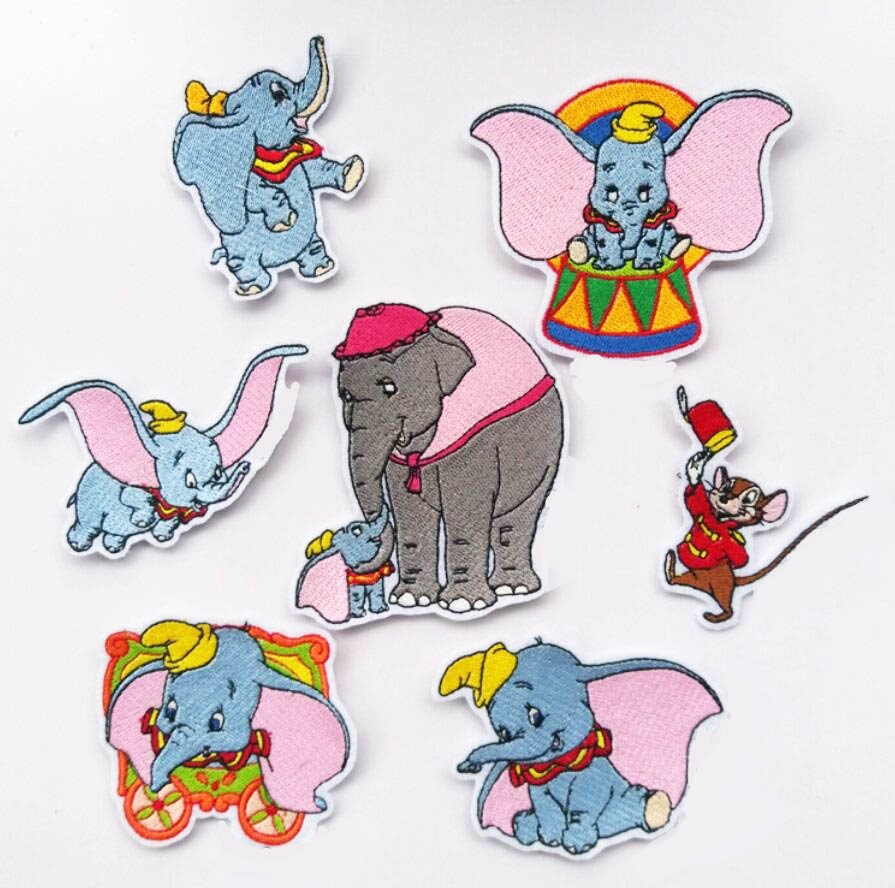 CUTE iron on Patches elephant badge Clothing accessories embroidered Wholesale
