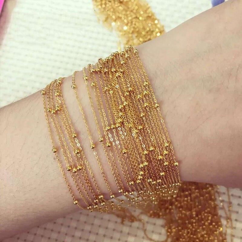Neue AU750 18 karat Gelb Gold Halskette Perfekte O Kette Mit Perle 15,7 1 stücke-in Halsketten aus Schmuck und Accessoires bei  Gruppe 1