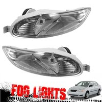1 Pair Bumper Fog Light Clear Len Front Lamps Complete Kit For Toyota Corolla 2005 2008 Camry Solara 2002 2003 2004