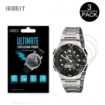 3Pack Explosion-Proof Screen Protector LCD Film For Casio Digital Watch AQ S810 AQ-S810W-1A 3A 1B 4A AQS800WD-1EV AQS810W-3AVCF image