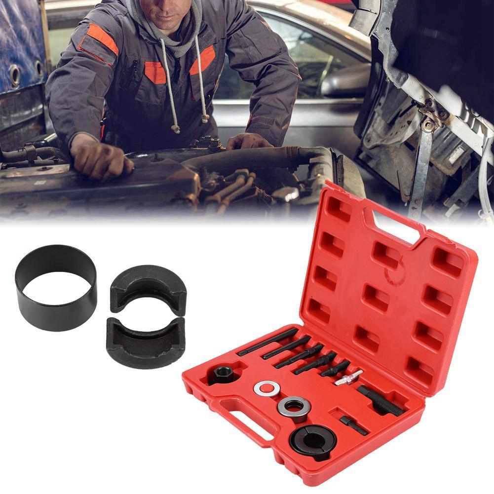 Car Repair Tool,13 pcs Car Power Steering Alternator Pump Pulley Puller Remover Disassembly Installer Tool