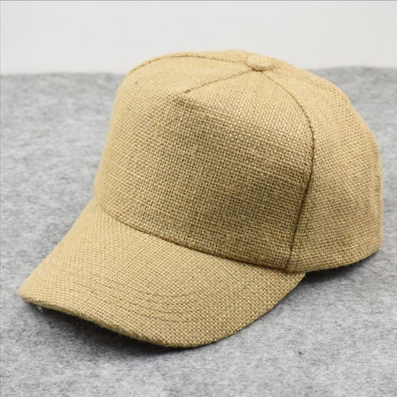 Male Summer Cool Linen Plain Sun Hats Big Head Man Large Size   Baseball     Caps   58-65cm
