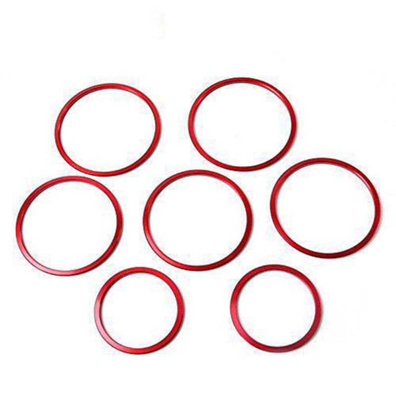 7PC Car-styling AC Outlet Ring Decoration Air Conditioning Vents Trim Stickers Cover for <font><b>Mercedes</b></font> Benz C Class W205 GLC <font><b>180</b></font> 20 image