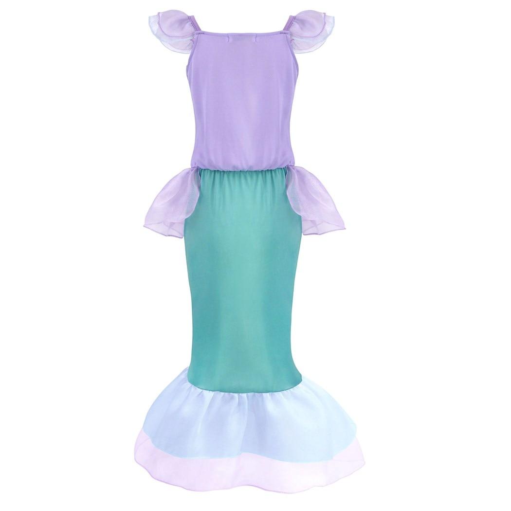 AmzBarley Little Mermaid Costume Girls Dress Up Princess Ariel Birthday Cosplay Party