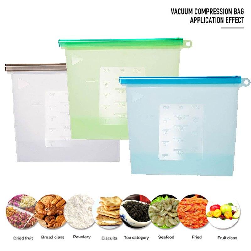 Герметичная упаковка для пищевых продуктов 17,5*23 см, силиконовые многоразовые обертывания для хранения холодильника, сохраняющие свежесть, бытовые прозрачные вакуумные пакеты