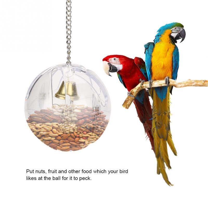 Pet Parrot Feeder Toys Bird Feeder Hang Foraging Ball Parrot Toys Pet Birdcage Fruit Nut Container Equipment Кормушка