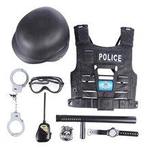 Surwish 8 шт./9 шт. детские игры и ролевые игрушки Обучающие симуляторы полицейский игровой набор