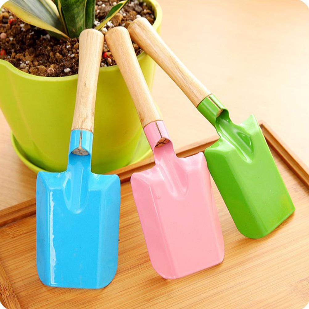 OUNONA 2 PCS Plastic Hand Trowel Homegrown Gardening Tool Flowerpot Shovel Break Shovel Scoop for Garden Plant Blue and Pink