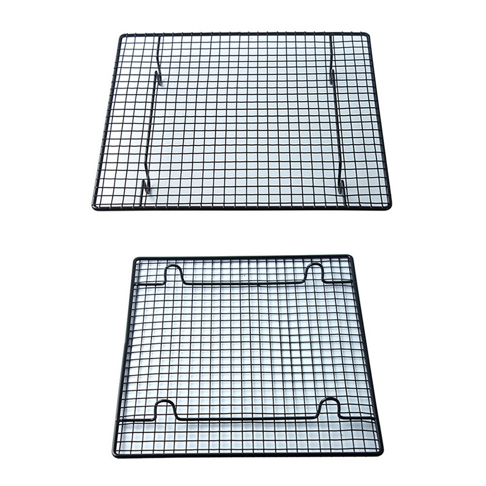 Jaimenalin Non-Stick Cake Cooling Rack Baking Rack Cookies Biscuits Bread Muffins Drying Stand Cooler Grid Net Wire Holder Bakeware Tool