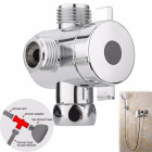 3 Way Shower Diverter Valve Handheld Shower Arm Diverter Splitter with Showerhead Holder WXV Sale