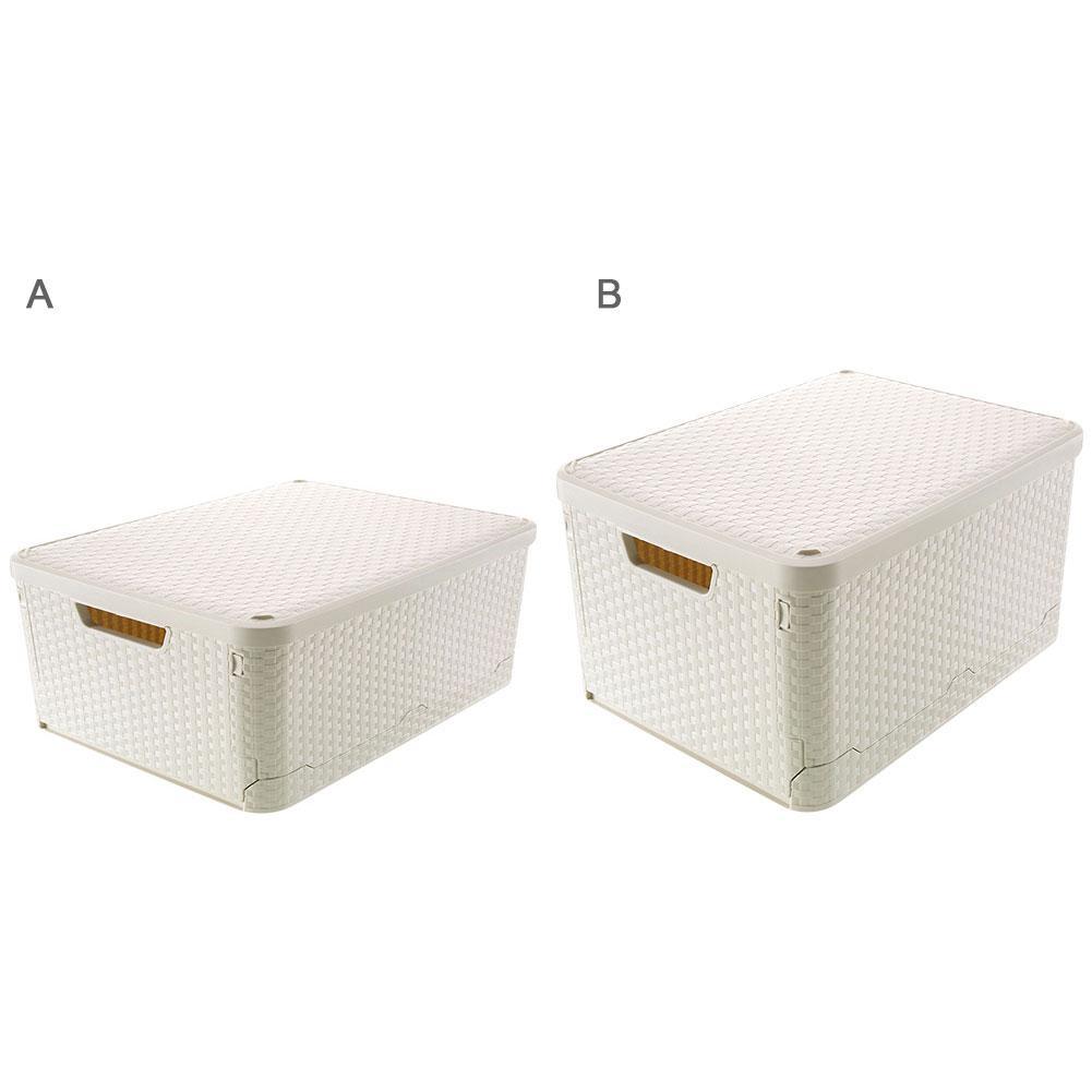 Цвета слоновой кости, белые складные пластиковые контейнеры для хранения, контейнеры для шкафа, органайзер для одежды, дома, офиса, спальни,