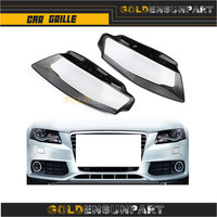 Audi A4 B8 09 12 Left and Right Front Kit Cover Lens 2pcs Fit for Headlights + Glue