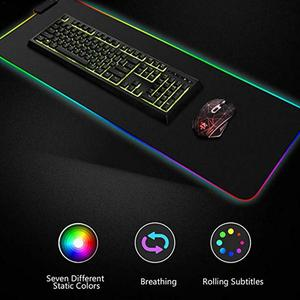 Luminous Gaming Mouse Pad Colorful Oversized Glowing USB LED Extended Illuminated Keyboard PU Non-slip Blanket Mat(China)