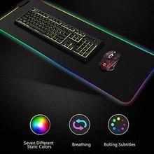 Светящийся игровой коврик для мыши цветной негабаритный светящийся USB светодиодный Расширенный клавиатура с подсветкой PU нескользящий коврик