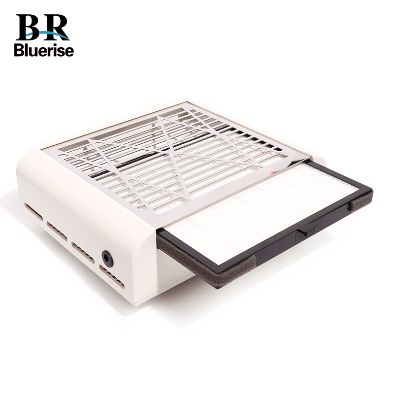 40W Nail Suction Dust Collector Manicure Machine Stainless Steel Polish Dust Collection High efficiency Filter Screen