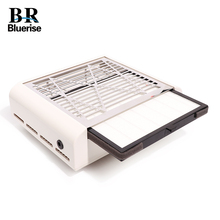 40W Nail Suction Dust Collector Manicure Machine Stainless Steel Polish Dust Collection High efficiency Filter Screen High RPM