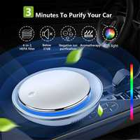 Mini USB Car Fresh Air Purifier Cleaner Negative Ion Oxygen Aromatherapy Remove Odor Eliminator Air Freshener Car Accessories