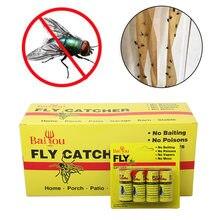 Rolo de cola de papel pegajoso para voar, 4/8/12/16 peças cola forte inseto mosquitos voador fita wxv venda