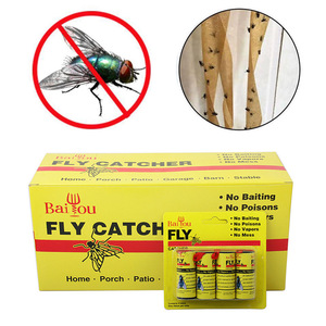 4/8/12/16Pcs Fly Sticky Paper Strip Strong Glue Flying Insect Bug Mosquitos Catcher Roll Tape WXV Sale