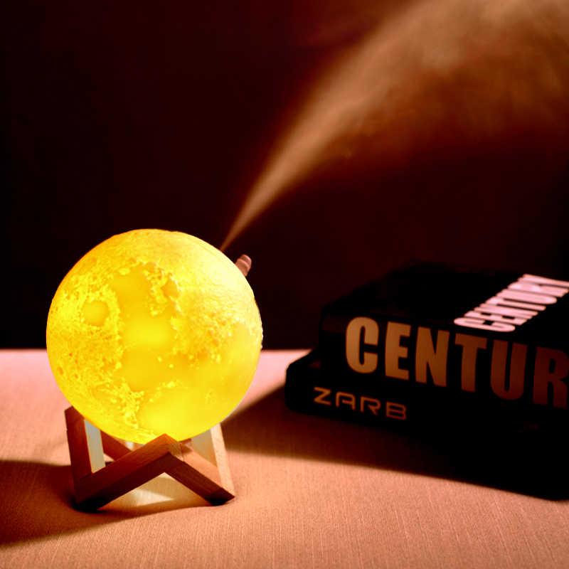Увлажнитель воздуха 3D Луна свет лампы диффузор 880 мл Аромат эфирные масла USB Ультразвуковой Humidificador ночь холодный туман очиститель