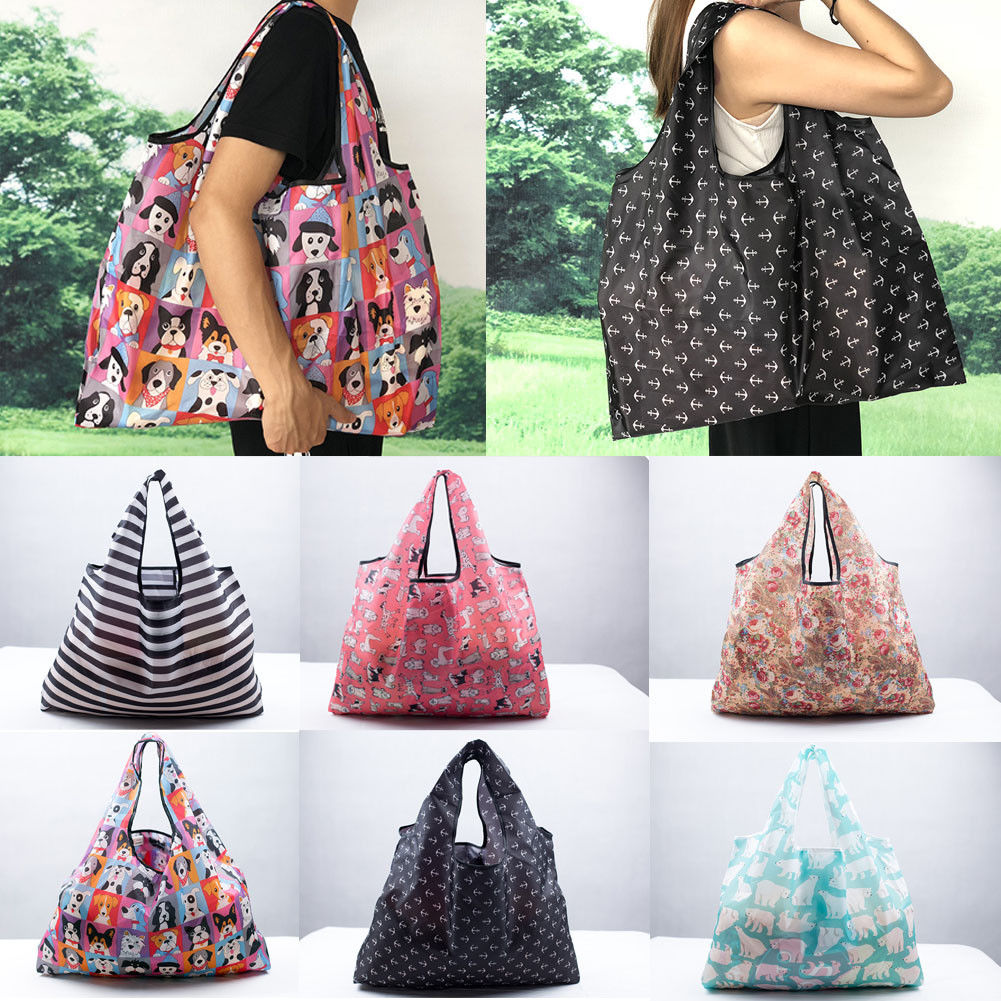 Foldable Handy Shopping Bags Reusable Tote Pouch Recycle Storage Handbags Handbag