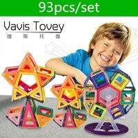 Vavis Tovey 93pcs Mini DIY Variety magic magnet pulling Magnetic building blocks assembled gifts children