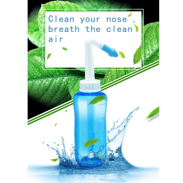 500 ml niños aspirador Nasal olla Neti lavado Nasal limpiador nariz Protector limpia humedece niño adulto evitar rinitis alérgica