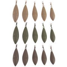 Открытый карп рыбалка Защита окружающей среды покрытие с 3 цвета оливкового типа свинца кулон