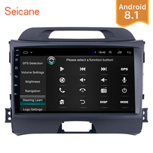 Seicane 9 inch Android 8.1 GPS Car Radio For KIA Sportage 2010 2011 2012 2013 2014 2015 2Din Wifi Multimedia Player Head Unit