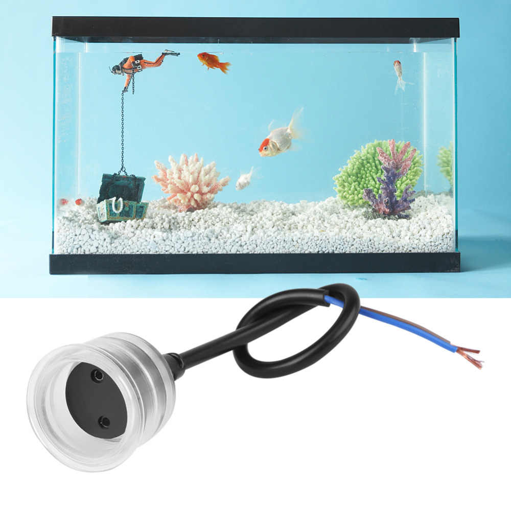 Acuario pecera a prueba de agua lámpara Base tubo accesorios T5/T8 transparente sombra luz Socket lámpara tapa acuario lámpara impermeable
