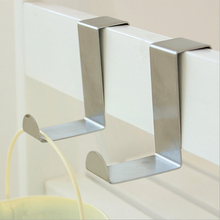 лучшая цена 1pcs/lot Stainless Over Door Hooks Kitchen Cabinet Draw Towel Clothes Pothook can carry 10kg