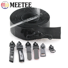 a8fe62119 Meetee 2meters 3  5  Invisible Reverse Nylon Coil Waterproof Zippers for  Backpack Shoes Jacket