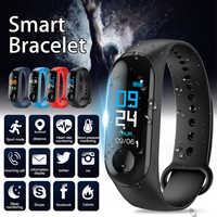 Smart Bracelet Sports Fitness Watch Pedometer Alarm Heart Rate Monitor Reminder Color Screen M3 Waterproof Wristbands
