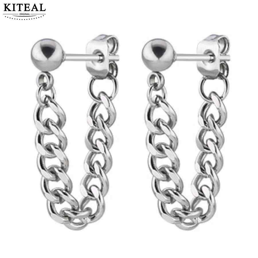 KITEAL exo stainless steel men jewelry Small steel ball chain earrings fashion style ear cuff floating charms