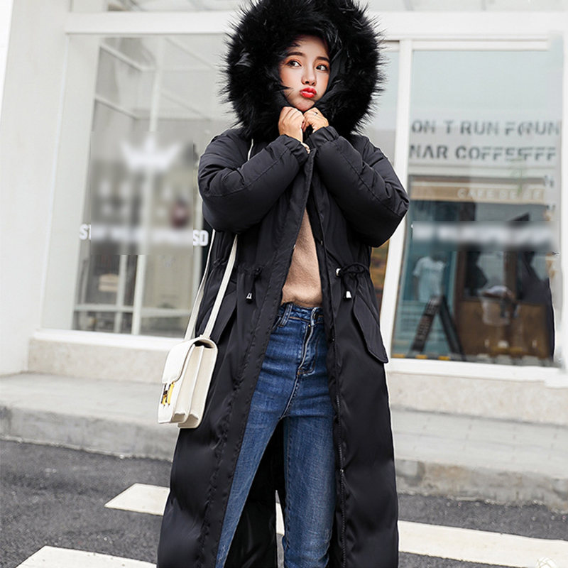 Winter 2018 Thick Down Jackets Large Fur Hooded   Parkas   Female Loose Cotton Long Outwear For Ladies Women New Winter Coat   Parka