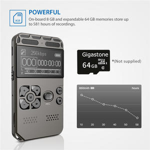Dictaphone Record One-Button Noise-Reducation Digital Professional Rechargeable USB 8G