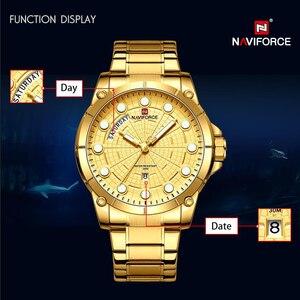Image 2 - Nouvelle montre professionnelle créative NAVIFORCE pour hommes Sport militaire montre bracelet à Quartz étanche montre bracelet pour hommes montres Relogio Masculino