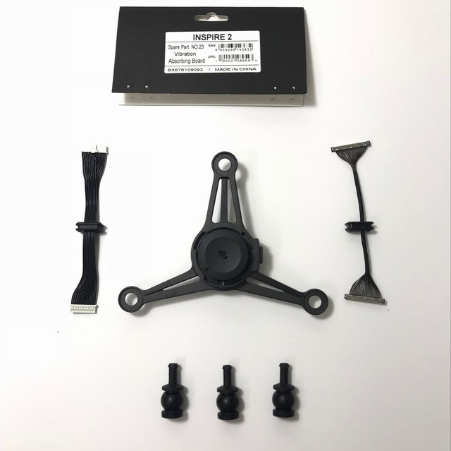 Dji inspire 2 cardan módulo de placa absorvente de vibração placa de absorção de choque painel peças de serviço parte 23 para reparação em estoque