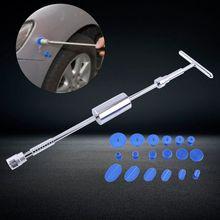 Sıcak el aracı seti Paintless Dent onarım dolu temizleme T Bar slayt çekiç + 18 adet tutkal çektirme sekmeler Nin araba tamir