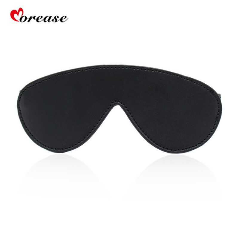 Morease DBSM PU Leather Blindfold Bondage Restraints Sexy Erotic Toys Cosplay Eye Mask For Woman Fetish Slave Sex Game Sex Toys