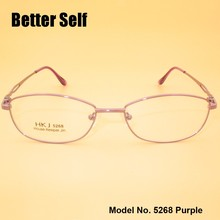 Full Rim Spectacles Metal Optical Frame Can Do Prescription Eyewear Eyeglasses Vintage Better Self F5268