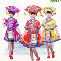 Songyuexia Nation Dance Show Clothing Children Child Girl Nation Stage Performance Clothes