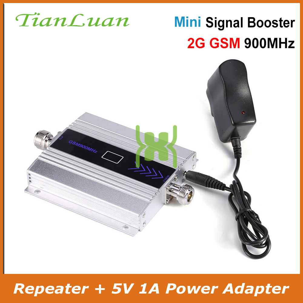 TianLuan Mini GSM 900Mhz Mobile Phone Signal Booster  GSM Signal Repeater 2G Cell Phone Signal Amplifier + Power / LCD Display