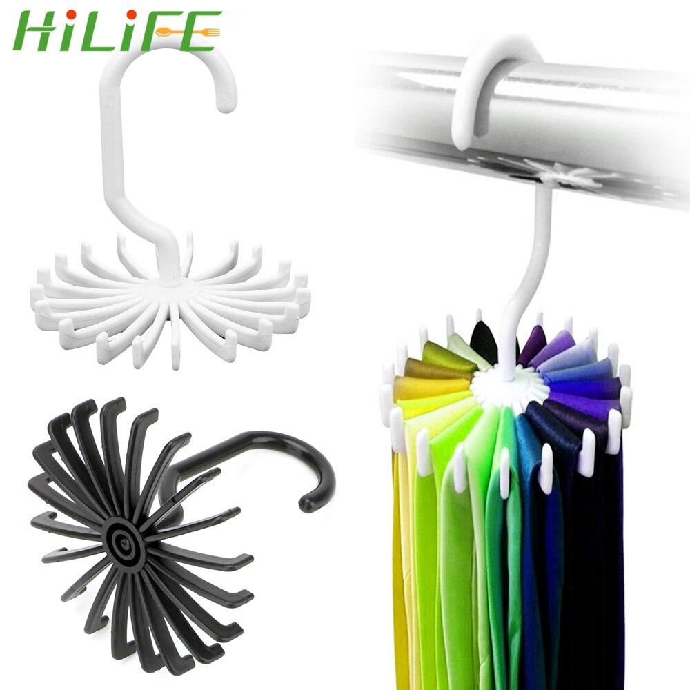 HILIFE Drying Rack Laundry Hanger Rotating Scarf Hanger Tie Belt Hanger Wardrobe Organizer Rack 20 Hooks Clothes Holder