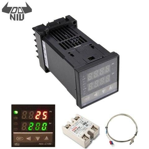 Bits de Resolução Controlador de Temperatura com Sonda de 400 Daniu Graus Kit Digital Pid 14 Rex-c100 110-240 v 1300