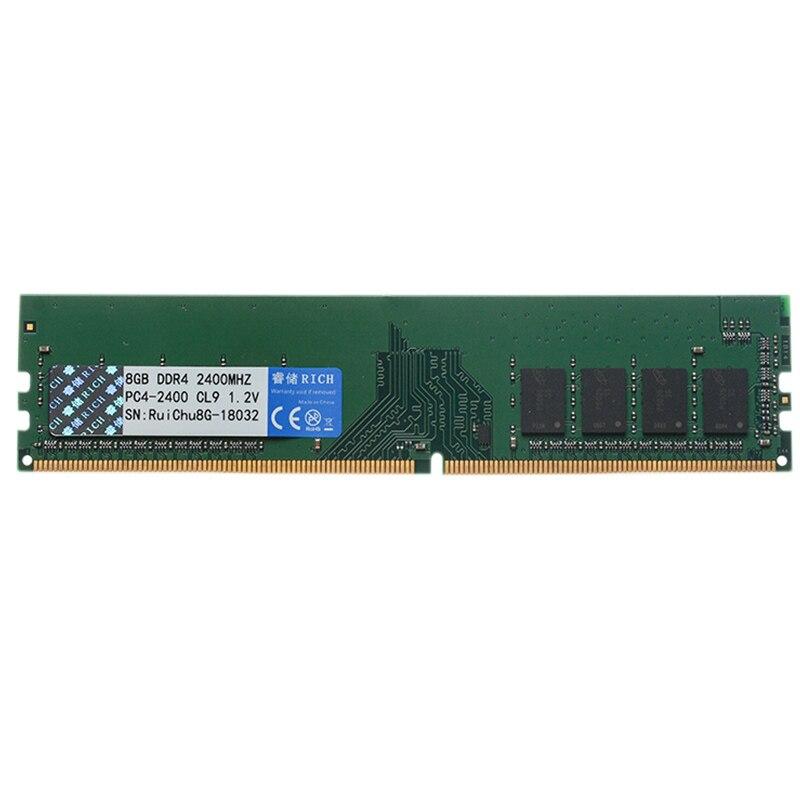 Ruichu Ddr4 8G 1.2 V 288Pin mémoire ram Pour ordinateur de Bureau
