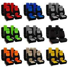 9PCS/Set Universal Car Seat Cover Knitted Breathable Front And Rear All Covered Protection Lumbar Auto Accessories Supplies