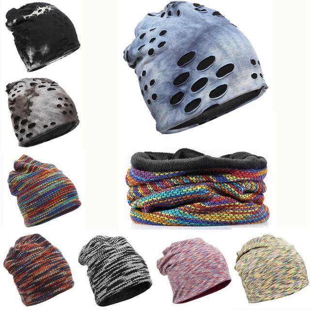 3b1d65b8b3d 10 Style Chapeaux D hiver Écharpe Hommes Femmes Chaud Capuchon En Laine  Polaire Multifonction Beanie