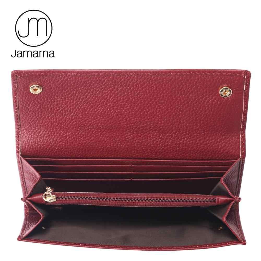 Jamarna, женские кошельки, натуральная кожа, Женский кошелек, монета, держатель для карт, длинный клатч, роскошный, мобильный карман, кошелек, женский, из мягкой кожи
