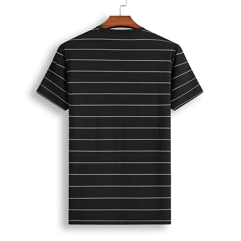 8XL 7XL Polo Shirt Men's Business Casual Summer Breathable Short Sleeve Striped Polo Shirt Cotton Of High Quality 81931 Poles 30